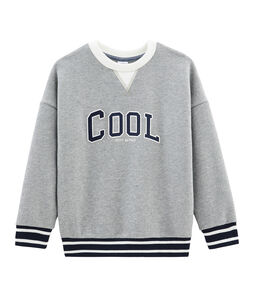 Sweatshirt enfant garçon gris Subway