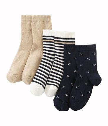 Coffret de 3 paires de chaussettes garçon