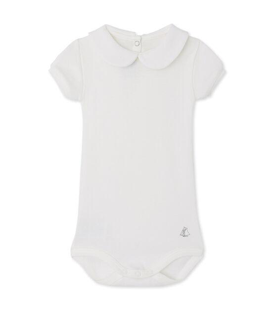 Body met kraagje voor babymeisjes wit Lait