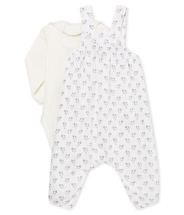Ensemble van 3 feeststukken van linnen voor babymeisje