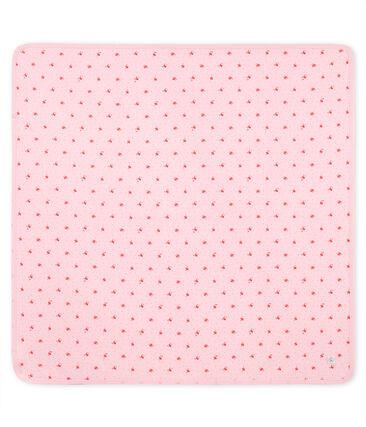 Uniseks babylaken met print roze Vienne / wit Multico