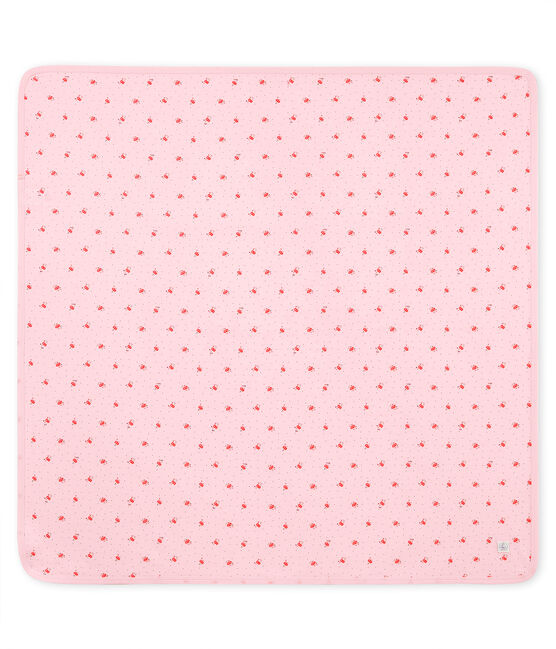 Drap bébé mixte imprimé rose Vienne / blanc Multico
