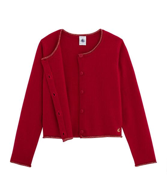 Tricot cardigan meisjes rood Terkuit