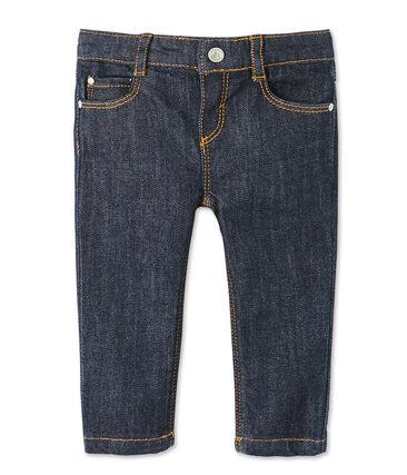 Pantalon slim bébé mixte en jean bleu Jean