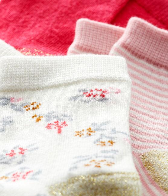 Lot de 3 paires de chaussettes bébé fille CHARME