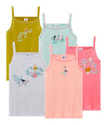 Lot de 5 chemises à bretelles petite fille