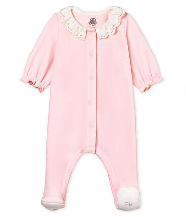 Dors-bien bébé fille en velours de coton