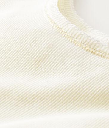 Hemdje vrouwen van 2x2 gebreide stof wit Marshmallow