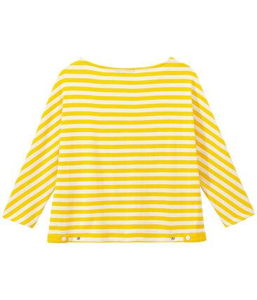 Dames-T-shirt met 3/4 mouwen en streepjes