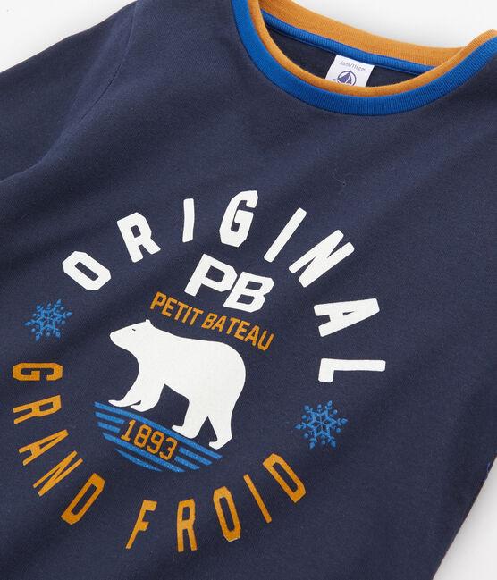T-shirt met lange mouwen jongens blauw Smoking