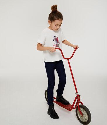 T-shirt met korte mouwen meisjes wit Marshmallow