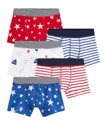 Set van 5 boxershorts voor jongens