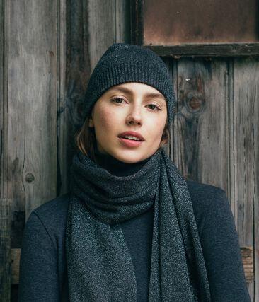 Echarpe brillante femme noir City / gris Argent
