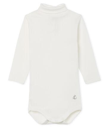Body met lange mouwen en opgerolde kraag baby gemixt wit Marshmallow