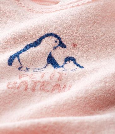 Dors bien bébé fille en bouclette éponge grattée extra chaude rose Minois