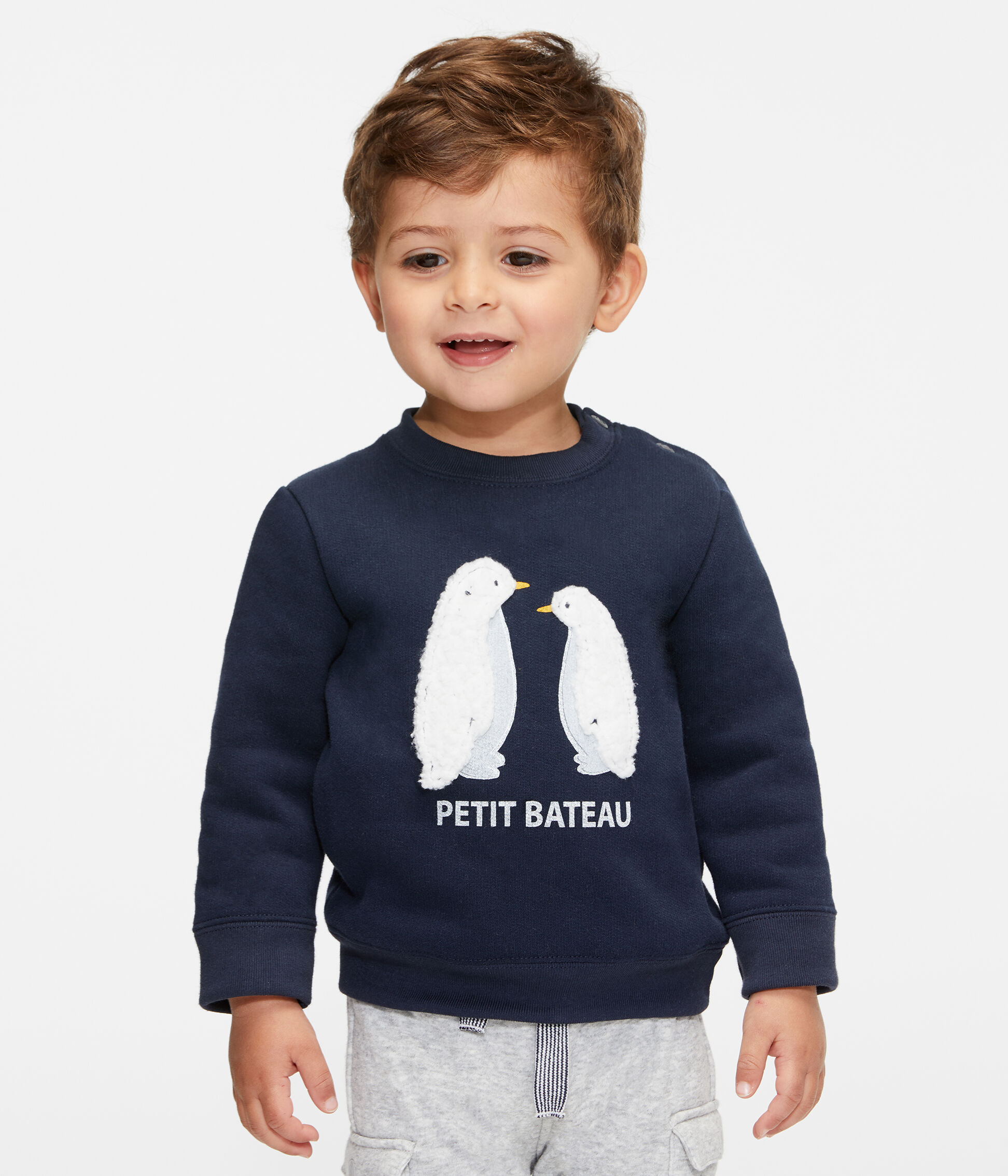 Petit Bateau Sweat-Shirt B/éb/é gar/çon