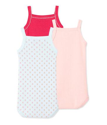 Set van drie body's met schouderbandjes voor babymeisjes