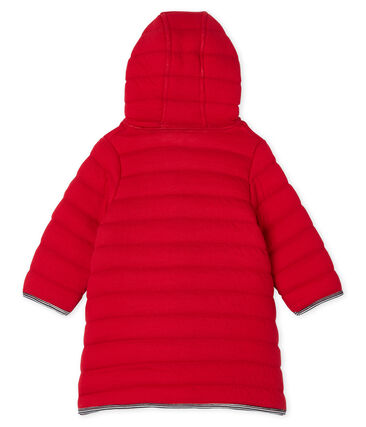 Jas van gewatteerde tubic babymeisje rood Terkuit