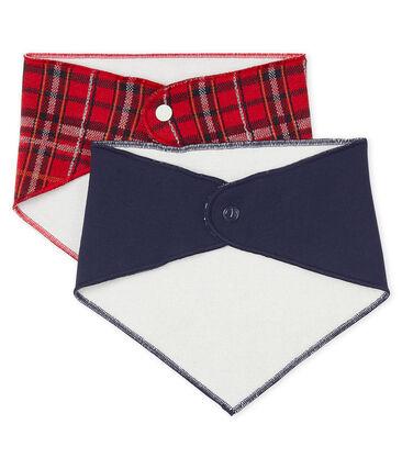 Set van 2 bandana-slabbetjes voor baby jongen