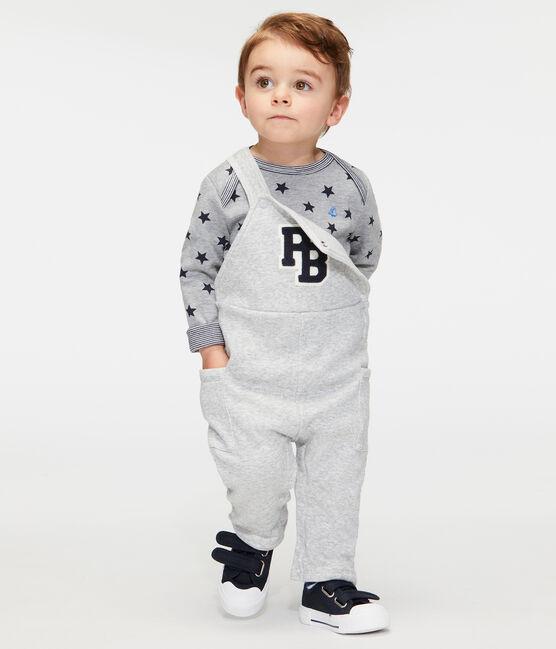 T-shirt met lange mouwen en print babyjongen grijs Subway / blauw Smoking