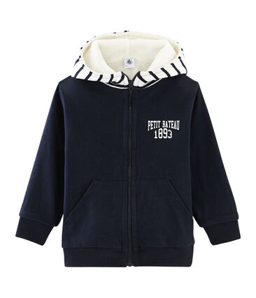 Tweezijdig sweatshirt met rits jongens blauw Smoking