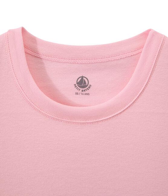 Dames-T-shirt in origineel geribd katoen roze Babylone