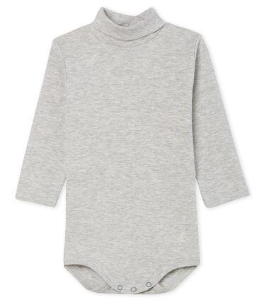 Body met lange mouwen en opgerolde kraag baby gemixt grijs Beluga