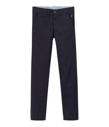 Pantalon chino garçon en gabardine