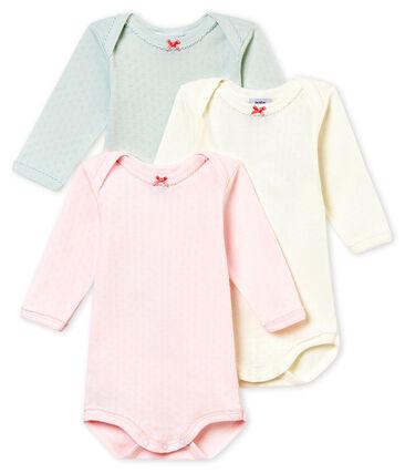 Set van 3 body's met lange mouwen voor babymeisjes