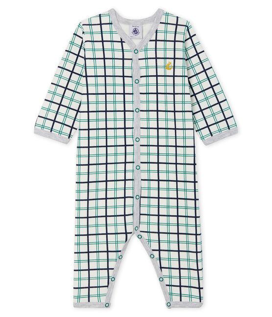 Slaappakje zonder voetjes van tubic babyjongen wit Marshmallow / wit Multico