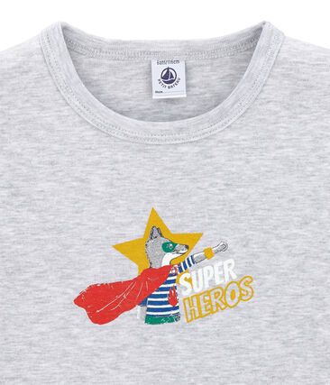 tee-shirt manches courtes petit garçon gris Poussiere Chine