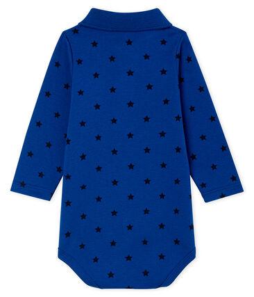 Body manches longues avec col polo bébé garçon bleu Limoges / bleu Smoking
