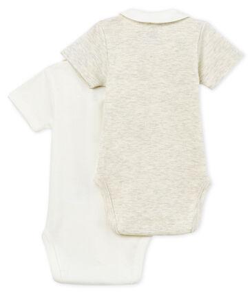 Set met 2 body's met korte mouwen met hals voor babyjongens