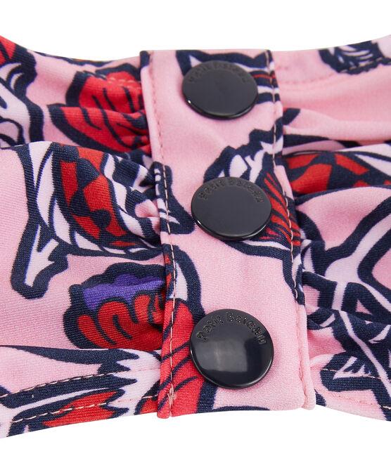 Haut de maillot de bain écoresponsable femme rose Patience / blanc Multico