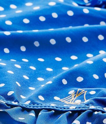 Badpak met stippen voor babymeisjes blauw Perse / wit Marshmallow