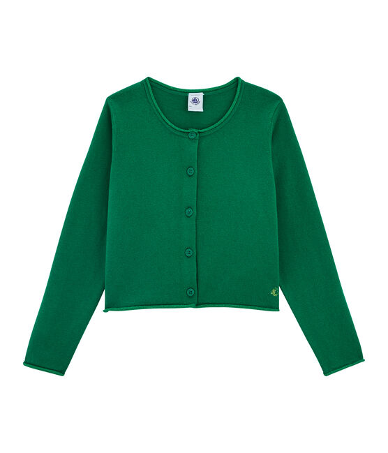 Tricot cardigan meisjes groen Ecology