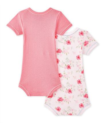 Set van 2 body's met korte mouwen voor babymeisjes