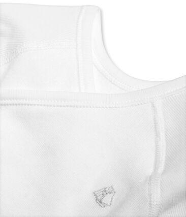 Body naissance manches longues bébé mixte en coton gratté blanc Ecume