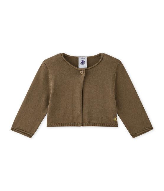 Bolero in tricot voor babymeisjes bruin Shitake