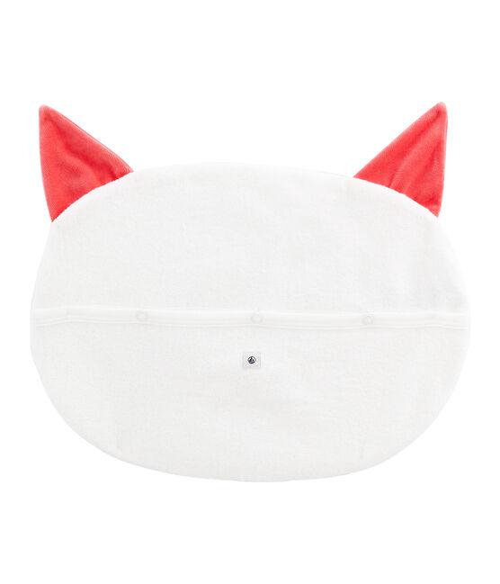Range pyjama en bouclette éponge grattée extra chaude blanc Marshmallow / rouge Signal