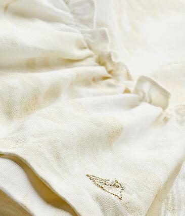 Robe bébé fille en satin imprimée