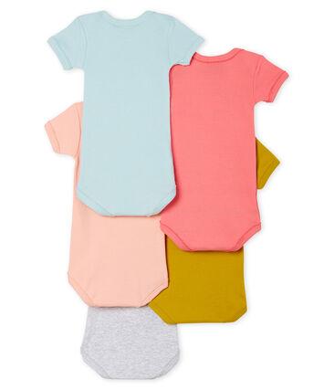 Set met 5 body's met korte mouwen voor babymeisjes
