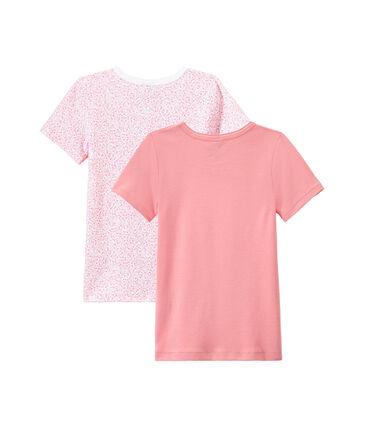 Set van 2 meisjes-T-shirts met korte mouwen