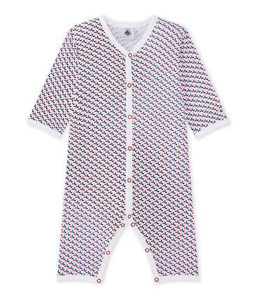 Pyjama zonder voetjes voor babyjongens wit Ecume / wit Multico