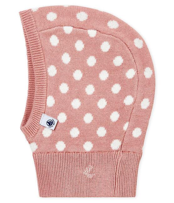 Cagoule animée bébé mixte rose Joli / blanc Marshmallow