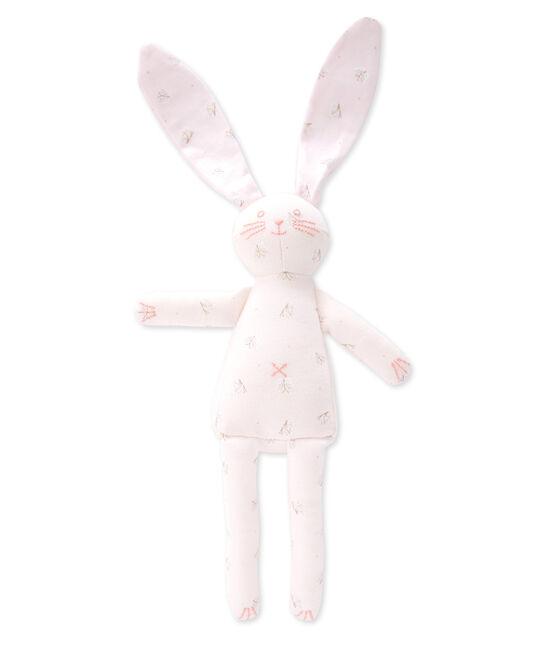 Doudou lapin roze Vienne / wit Ecume