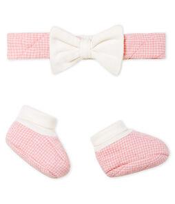 Set haarband en babyschoentjes van gwatteerde tubic, babymeisje set .