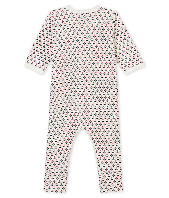 Dors bien pieds réversibles bébé fille blanc Marshmallow / blanc Multico