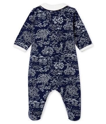 Pyjama voor babymeisjes blauw Smoking / wit Ecume