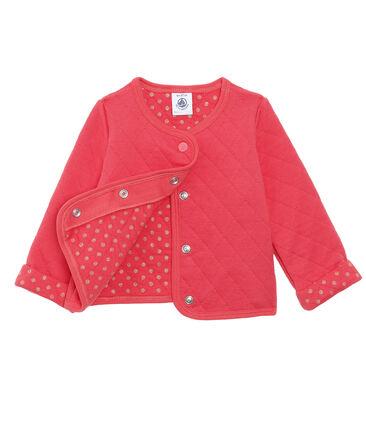 Cardigan van gewatteerde tubic babymeisje rood Signal